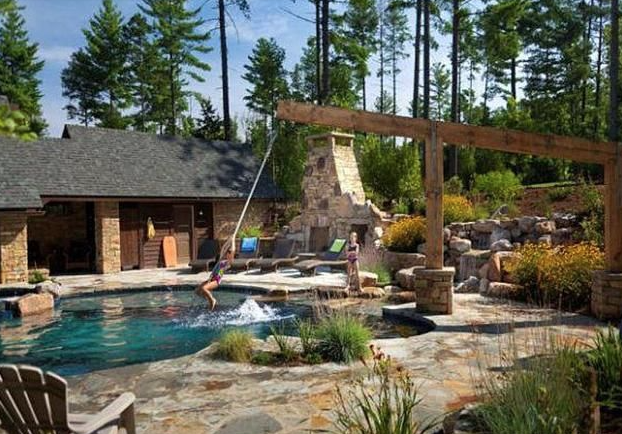 Swimming Pool Rope Swings An Alternative To Diving Boards And Slides