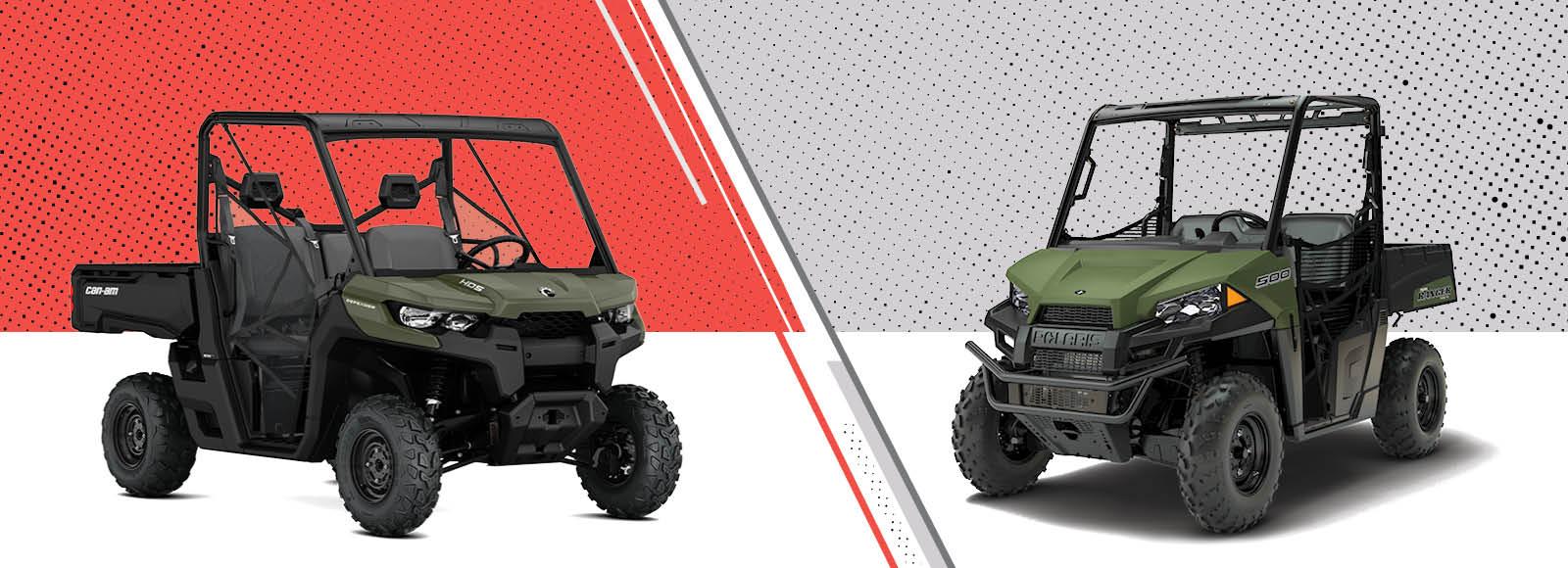 Side by Side UTV Review: CanAm Defender HD5 vs Polaris