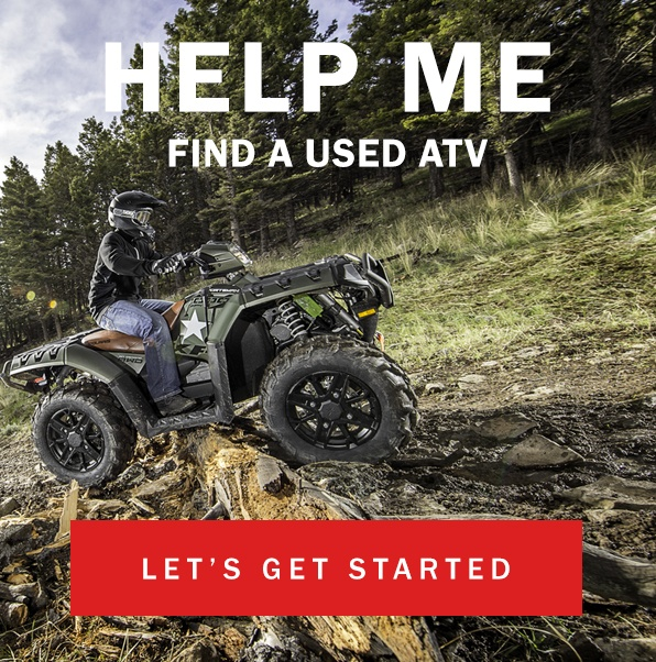 Help me find a used ATV - Let's get started