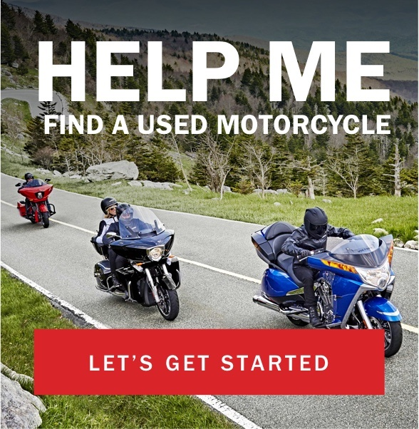 Help me find a used motorcycle - Let's get started