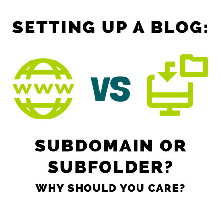 Setting up a blog: subdomain or subfolder?