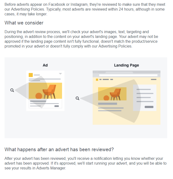landing page facebook ads 1