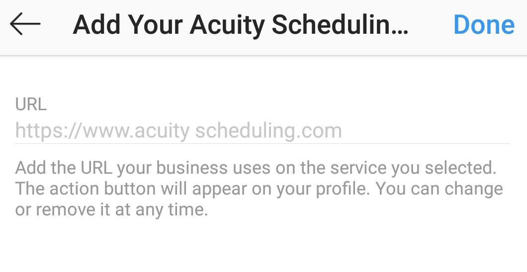 add your url