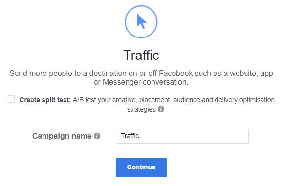 Facebook Traffic or Conversion 1