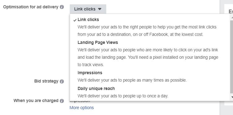 Facebook Traffic or Conversion 2