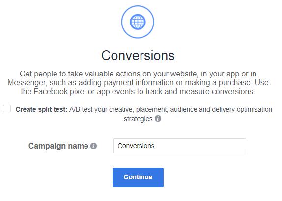 Facebook Traffic or Conversion 3