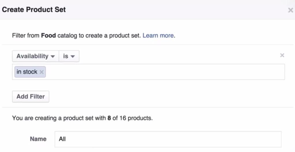 Create a Product Set