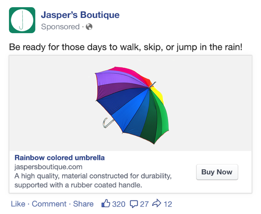 Facebook Product Ad Lists