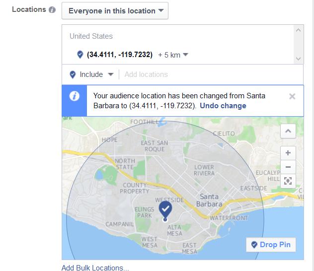 Facebook Video Ad Geo-targeting