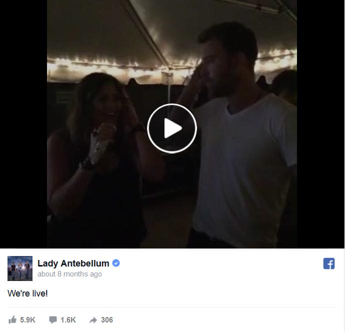 Lady Antebellum Facebook Live