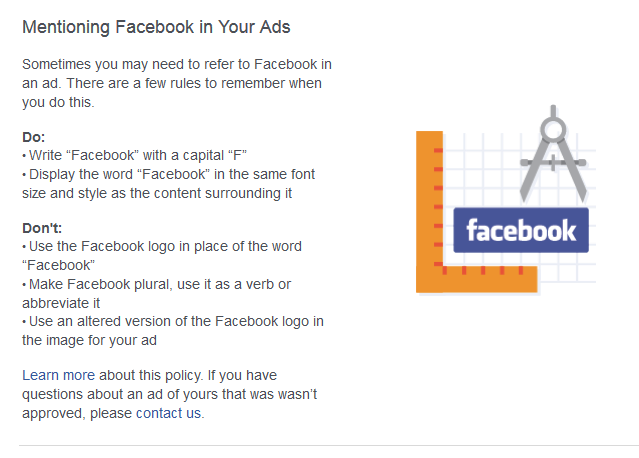 Mentioning Facebook Ads in Your Ads