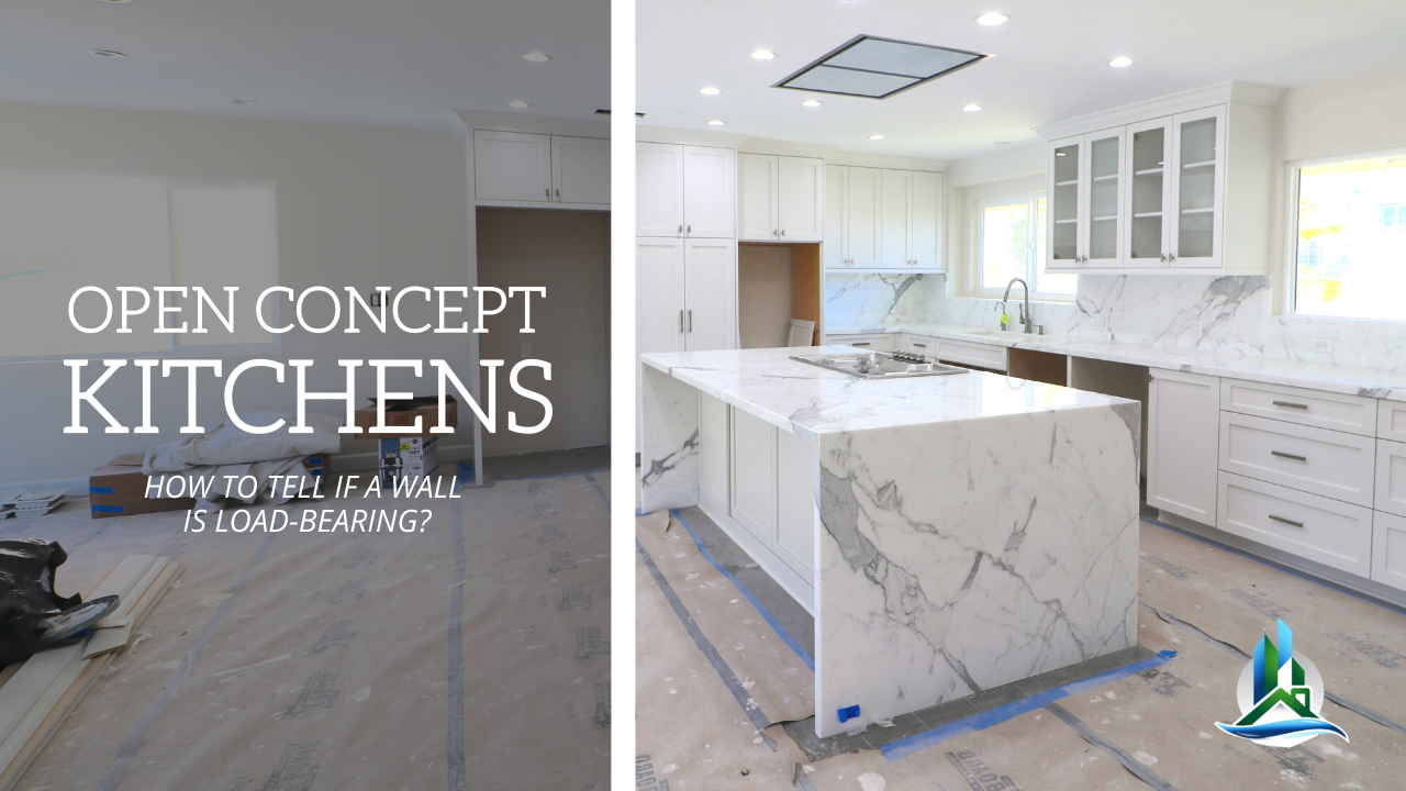 Open Concept Kitchen Remodel Removing Load Bearing Walls