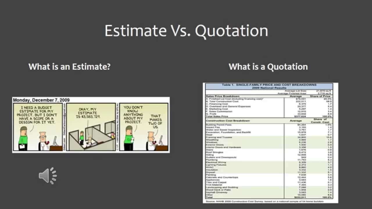 what u0026 39 s the difference between a construction quote and estimate