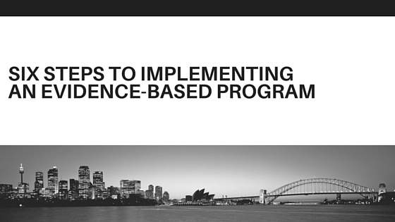 Six Steps to Implementing an Evidence-Based Program