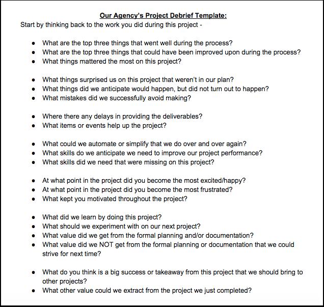 Project debrief template samannetonic project debrief template maxwellsz