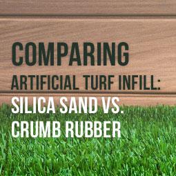Comparing Artificial Turf Infill: Silica Sand vs  Crumb Rubber
