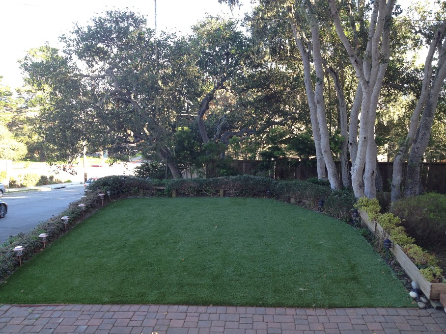 residential artificial turf installation