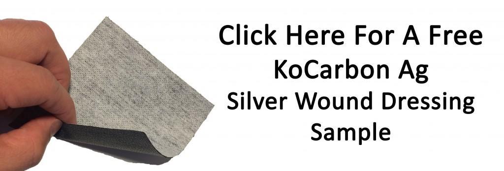 Kocarbon Ag Antimicrobial Sivler Carbon Wound Dressing, Silver Wound Dressing, Charcoal Wound Dressing, Silver ion dressing