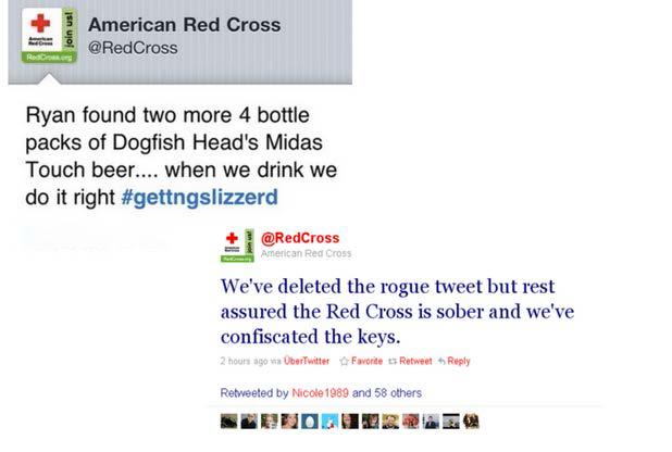 American Red Cross Tweet Example