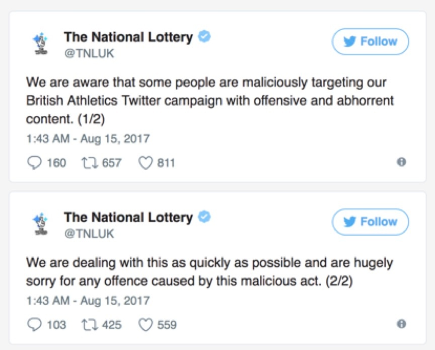 The National Lottery Twitter
