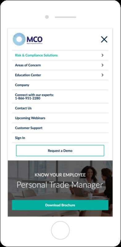 MCO best-in-class website mobile