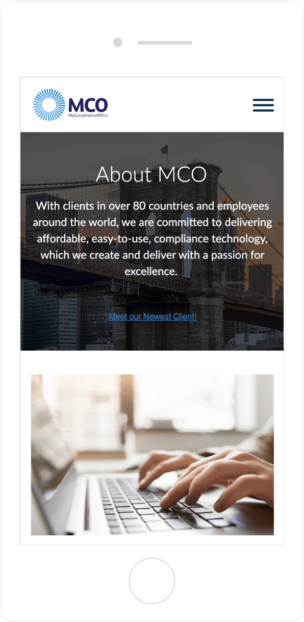 MCO site architecture encourages conversions