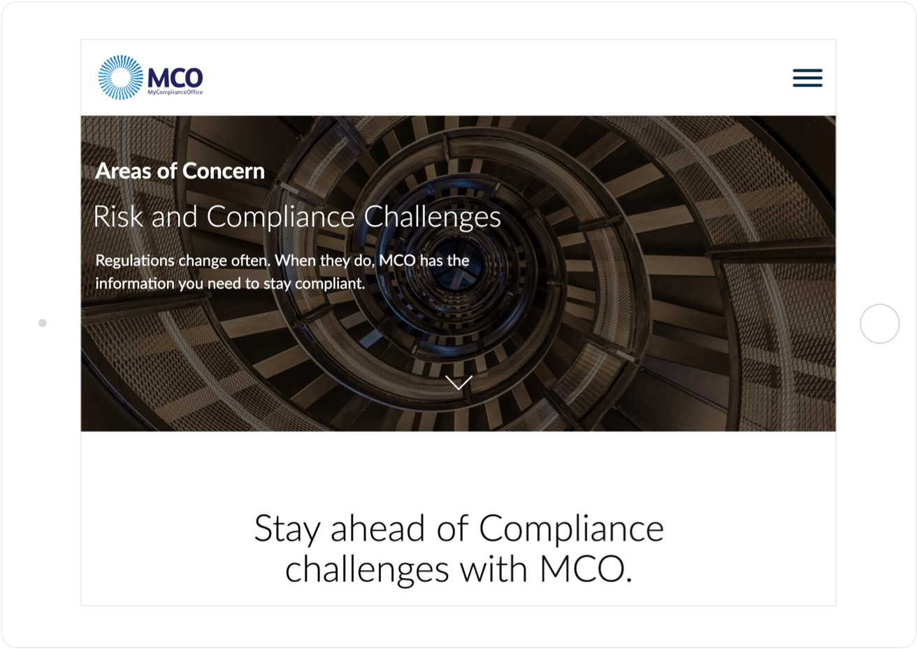 MCO compliance on tablet
