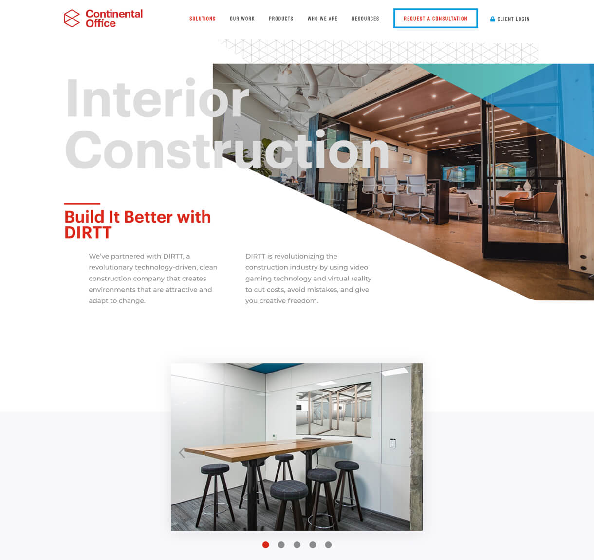 Continental Office desktop website