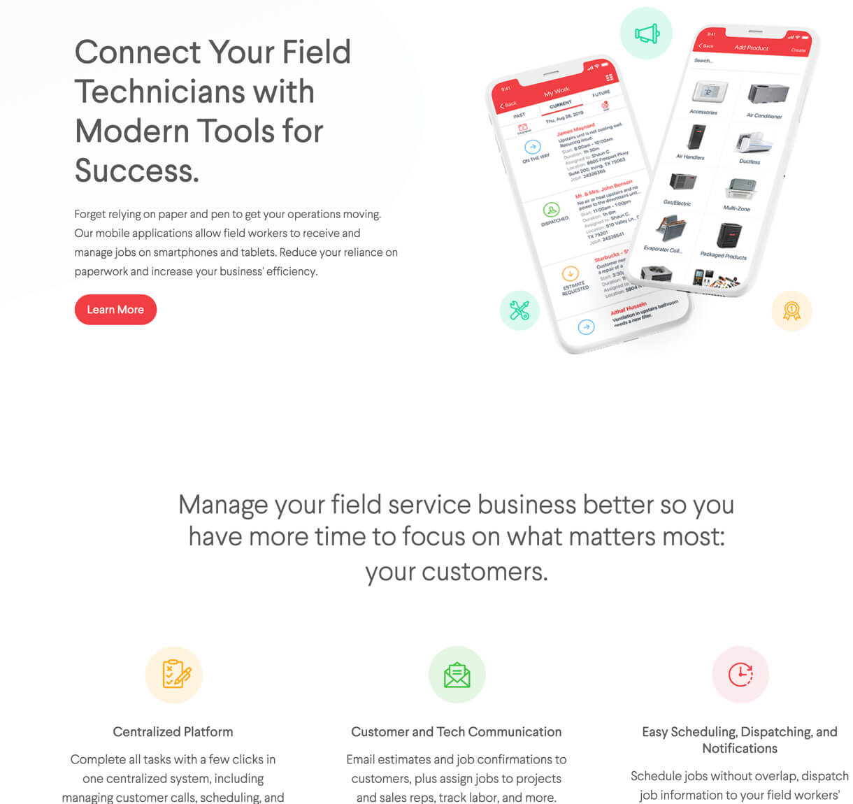 Service Fusion desktop view
