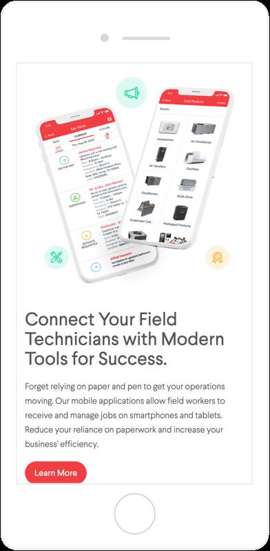 Service Fusion mobile view