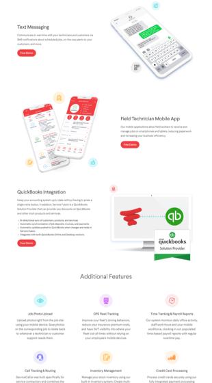 Service Fusion product screenshots