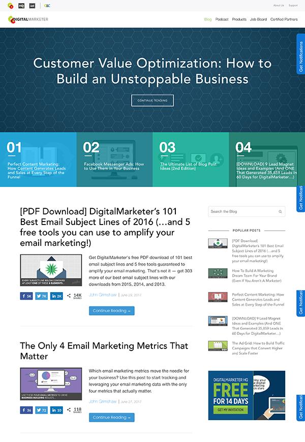 Blog Design Inspiration 7 Examples Of User Focused Design Impact