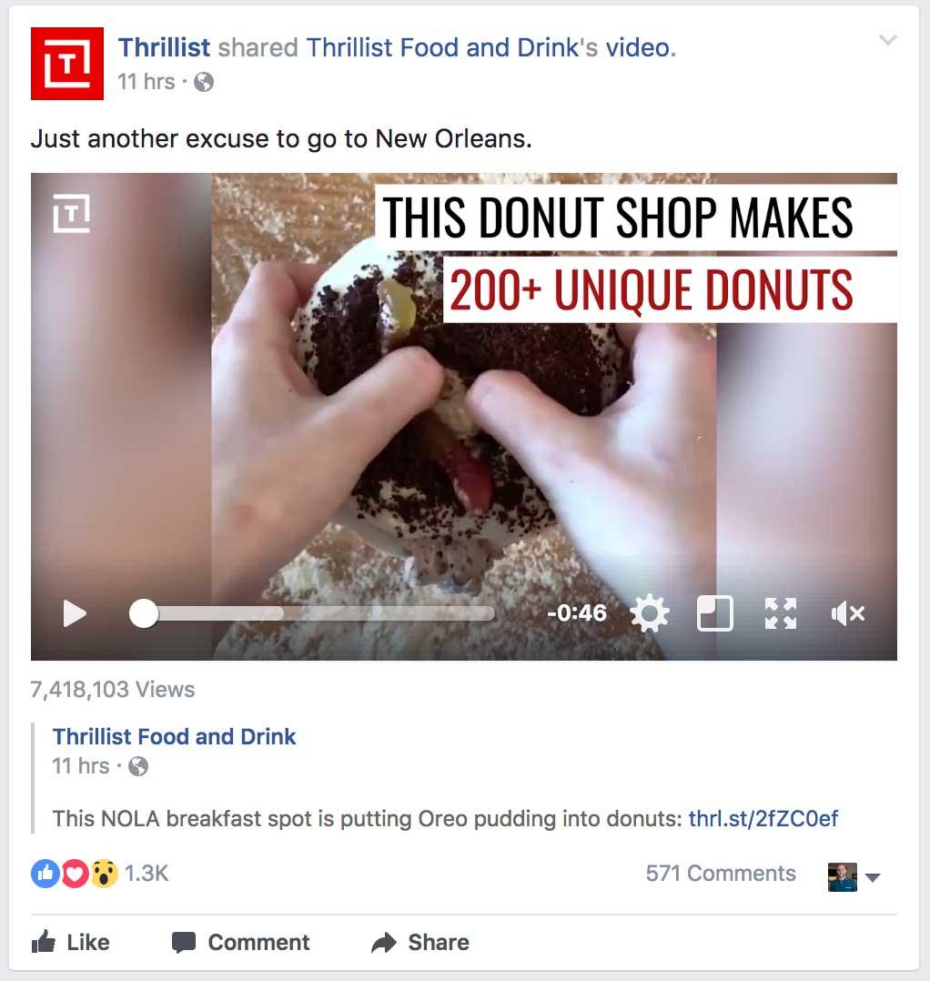 facebook ads group post donut