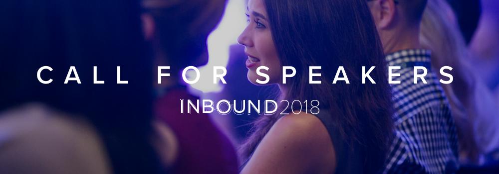 INBOUND 2018 | Speak at INBOUND