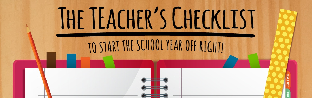 The Teacher's Checklist to Start the School Year Off Right!