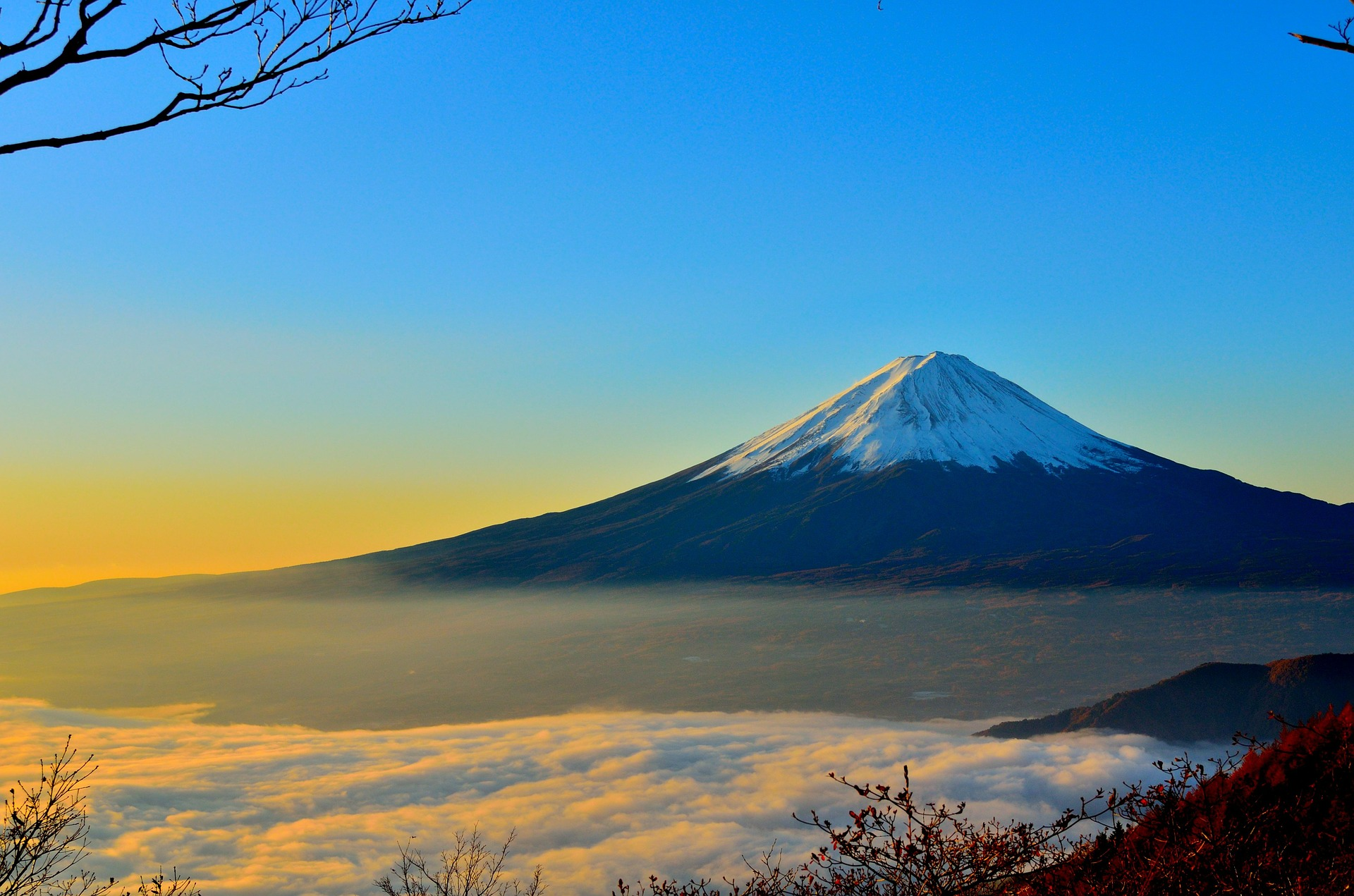 Seeing Mt. Fuji on New Years is Considered Lucky in Japan