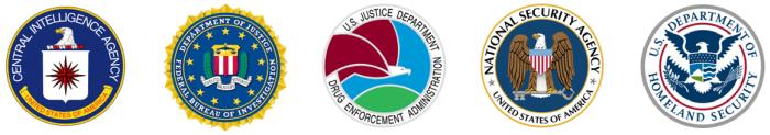 CIA, FBI, DOJ, DEA, NSA, DHS
