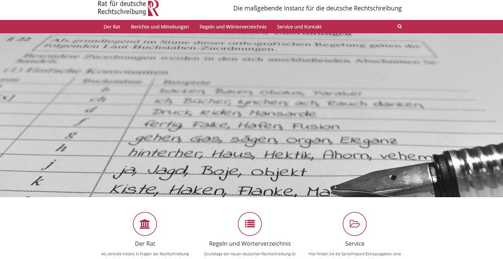 Rat fur deutsche Rechtschreibung Web Site.png