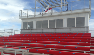 High school sports bleachers