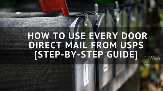 How To Use Every Door Direct Mail From Usps