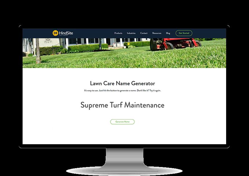 Lawn Care Name Generator