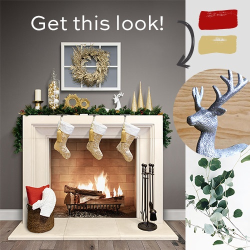 How to decorate your fireplace mantel for christmas for How to decorate a fireplace for christmas