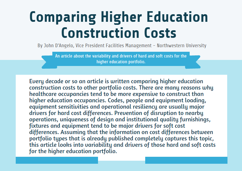 Comparing Higher Education Construction Costs
