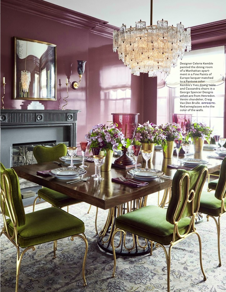 house beautiful dining rooms | House Beautiful: 5 Best Rooms with Designer Rugs in September