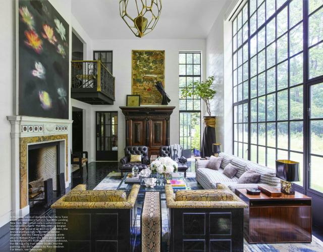 Contemporary Silk Rug Living Room Of Snedens Landing