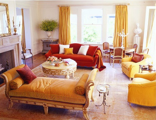 15 gorgeous interiors with gold rugs and yellow area rugs - Gold rug for living room ...
