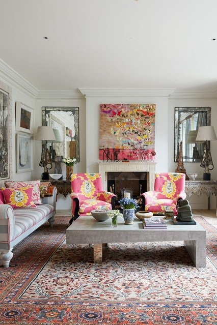 kit kemp 9 tips for bringing a modern vibe to interiors with red rugs