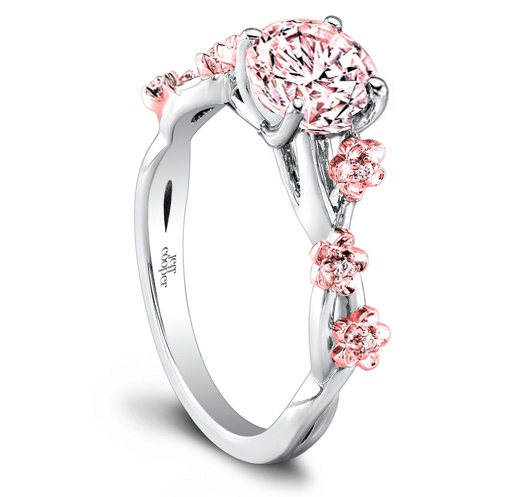 Cherry Blossom Engagement Ring
