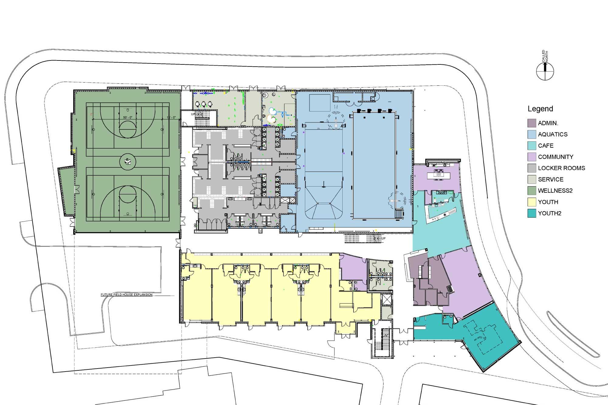 Lynn-YMCA Floor Plan Maugel Architects