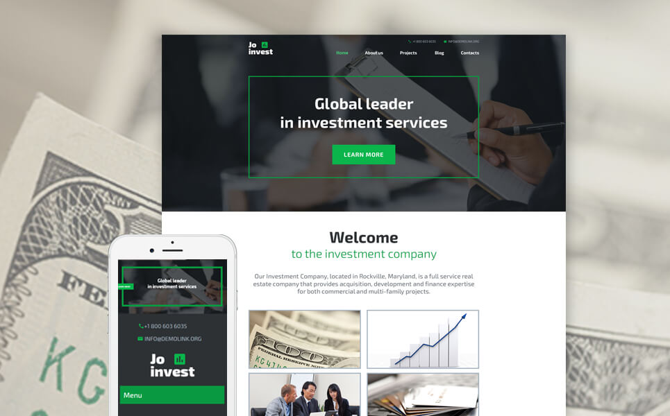 Investment Company WordPress Template